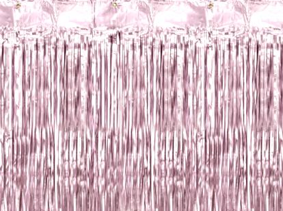 Folinė užuolaida-lietutis, rausva (90x250 cm)
