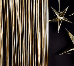 Folinė užuolaida-lietutis, rusvai auksinė (90x250 cm) 1