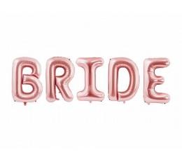 """Foliniai balionai-raidės """"Bride"""", rožinio aukso (86 cm)"""