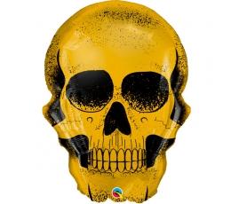 """Folinis balionas """"Auksinė kaukolė"""" (91 cm)"""