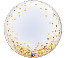 """Guminis balionas """"Aukso konfeti"""" (60 cm/Q)"""