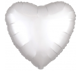 """Folinis balionas """"Balta širdis"""", matinis (43 cm)"""
