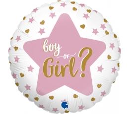 """Folinis balionas '""""Boy or Girl?"""" (46 cm)"""