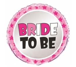 """Folinis balionas """"Bride to be"""" (45 cm)"""