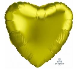 """Folinis balionas """"Citrininė širdis"""", matinis  (43 cm)"""