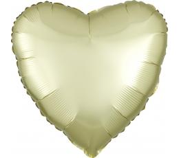 """Folinis balionas """"Gelsva širdis"""", matinis (43 cm)"""