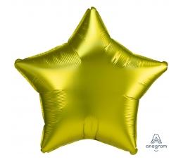 """Folinis balionas """"Geltona žvaigždė"""", matinis (48 cm)"""