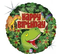 """Folinis balionas '""""Gimtadienis su dinozaurais"""" (46 cm)"""
