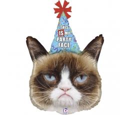 "Folinis balionas ""Grumpy Cat party"" (91 cm)"