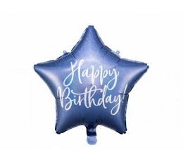 "Folinis balionas ""Happy Birthday"", mėlynas holografinis (40 cm)"