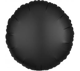 """Folinis balionas """"Juodas apskritimas"""", matinis (43 cm)"""