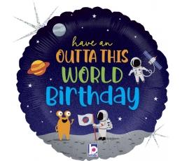 """Folinis balionas """"Kosmoso gimtadienis"""" (46 cm)"""