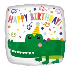 """Folinis balionas """"Krokodilo gimtadienis"""" (43 cm)"""
