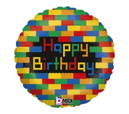 """Folinis balionas """"Lego kaladėlės"""" (46 cm)"""