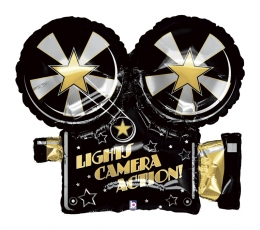 "Folinis balionas ""Lights.Camera.Action"" (81 cm)"