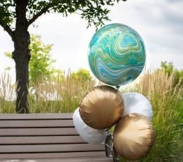 Folinis balionas-marblez, mėlynas (38x40cm) 1