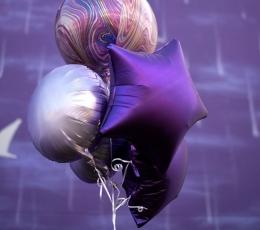 Folinis balionas-marblez, violetinis (38x40cm) 1