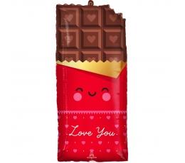 "Folinis balionas ""Meilės šokoladas"" (33x71cm)"