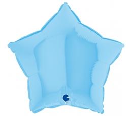 """Folinis balionas """"Melsva žvaigždė"""", matinis (46 cm)"""