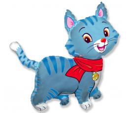 "Folinis balionas ""Melsvas katinukas"" (60 cm)"