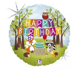 """Folinis balionas """"Miško gimtadienis"""" (46 cm)"""