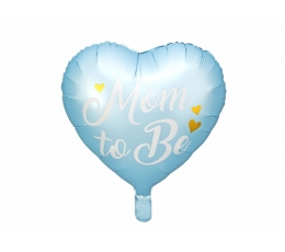"Folinis balionas ""Mom to be"", melsvas (35 cm)"