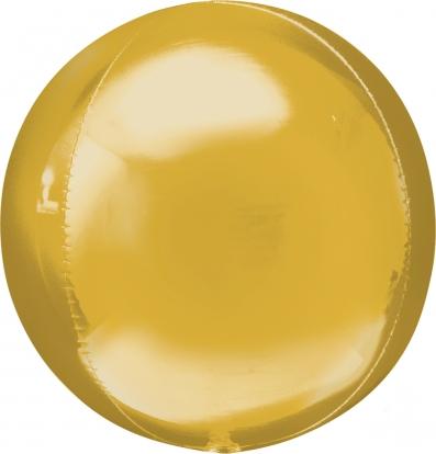 Folinis balionas-orbz, auksinis (38 cm)