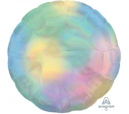 """Folinis balionas """"Perlamutrinis apskritimas"""", holografinis (45 cm)"""