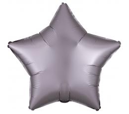 """Folinis balionas """"Pilkšvai rausva žvaigždė"""" (48 cm)"""