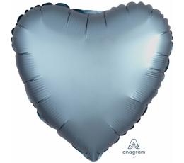 """Folinis balionas """"Plieninė širdis"""", matinis (43 cm)"""