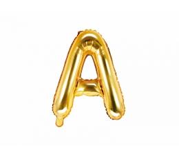"""Folinis balionas-raidė """"A"""", auksinis (35 cm)"""