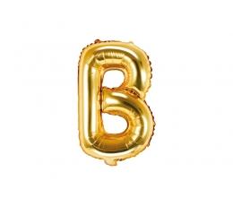 """Folinis balionas-raidė """"B"""", auksinis (35 cm)"""