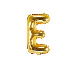 """Folinis balionas-raidė """"E"""", auksinis (35 cm)"""
