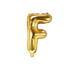 """Folinis balionas-raidė """"F"""", auksinis (35 cm)"""