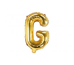 """Folinis balionas-raidė """"G"""", auksinis (35 cm)"""