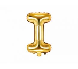 """Folinis balionas-raidė """"I"""", auksinis (35 cm)"""