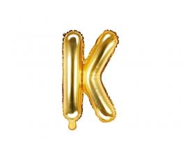 """Folinis balionas-raidė """"K"""", auksinis (35 cm)"""