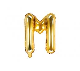 """Folinis balionas-raidė """"M"""", auksinis (35 cm)"""