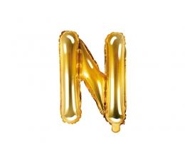 """Folinis balionas-raidė """"N"""", auksinis (35 cm)"""