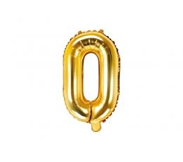 """Folinis balionas-raidė """"O"""", auksinis (35 cm)"""