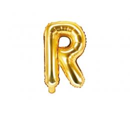 """Folinis balionas-raidė """"R"""", auksinis (35 cm)"""