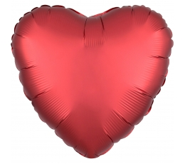 """Folinis balionas """"Raudona širdis"""", matinis (43 cm)"""