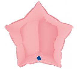 """Folinis balionas """"Rausva žvaigždutė"""", matinis (46 cm)"""