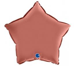 """Folinis balionas """"Rožinio aukso žvaigždė"""", matinis (46 cm)"""