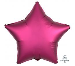 """Folinis balionas """"Ryškiai rožinė žvaigždė"""", matinis (43 cm)"""