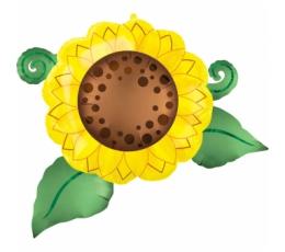 """Folinis balionas """"Saulėgrąža"""" (76x77 cm)"""