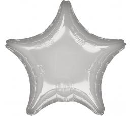 """Folinis balionas """"Sidabrinė žvaigždė"""" (45 cm)"""