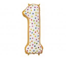 """Folinis balionas-skaičius """"1- Pabarstukai"""" (78 cm)"""