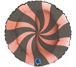 """Folinis balionas '""""Suktukas"""", pilkai rožinis auksas (46 cm)"""