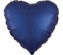 """Folinis balionas """"Tamsiai mėlyna širdis"""" (43 cm)"""